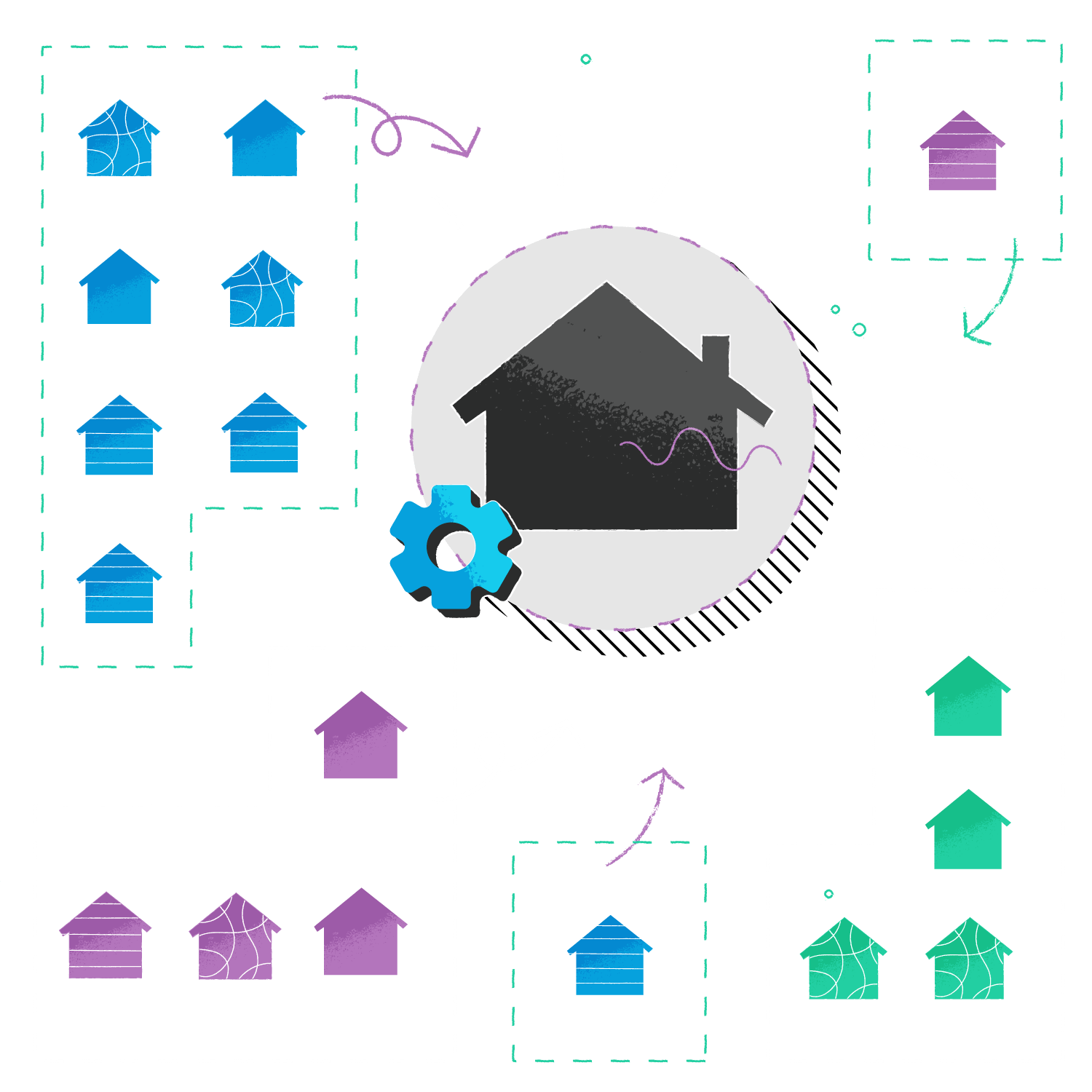 Aggregating offers from a variety of property providers and keeping them in sync within a single system